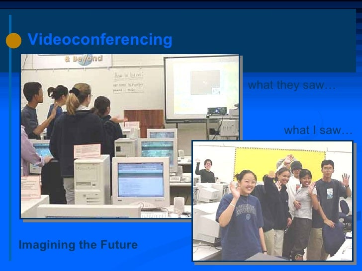 Videoconferencing what they saw… what I saw… Imagining the Future