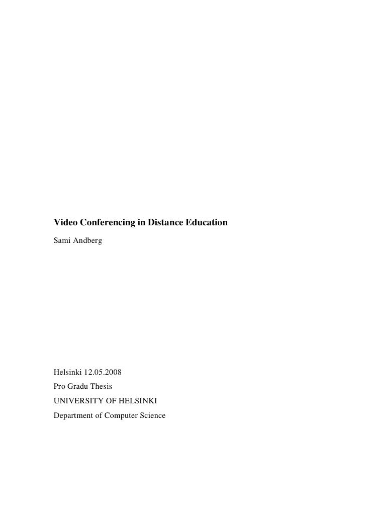 Video Conferencing Tools for Distance Education