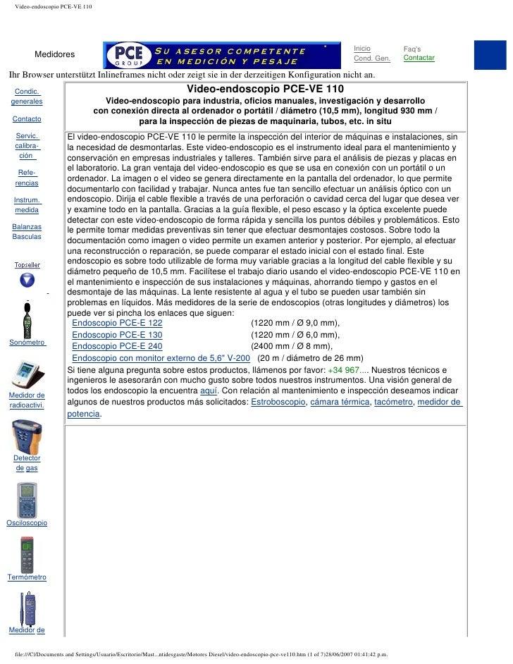 Video-endoscopio PCE-VE 110                                                                                               ...