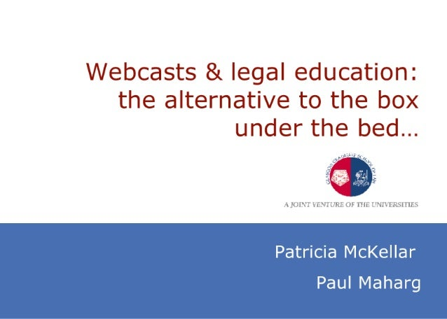 Video lectures and legal education: the  alternative to the box under the bed