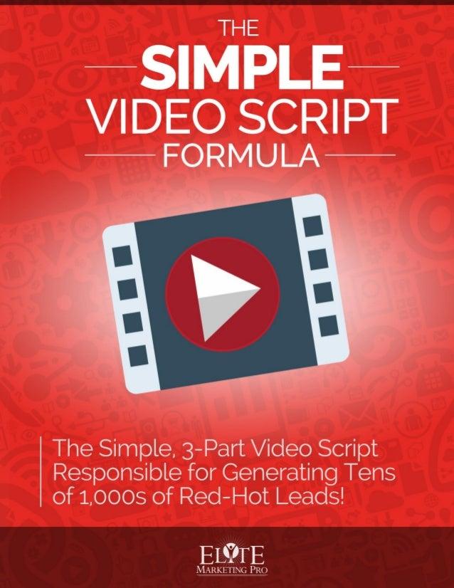 Image result for simple video script formula