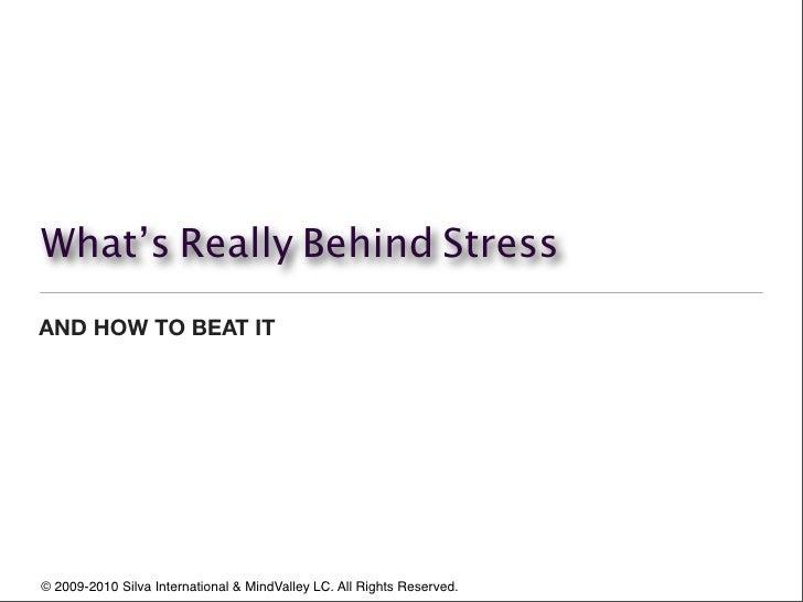 Stress meditation by The Silva Method