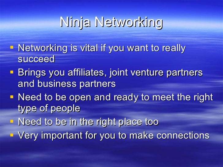 Video 9 ninja_networking