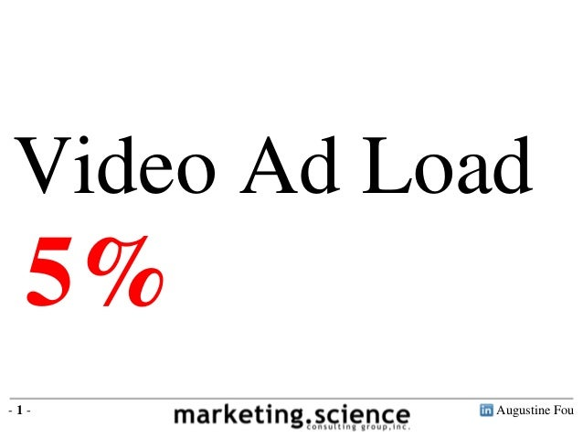 Augustine Fou- 1 - Video Ad Load 5%