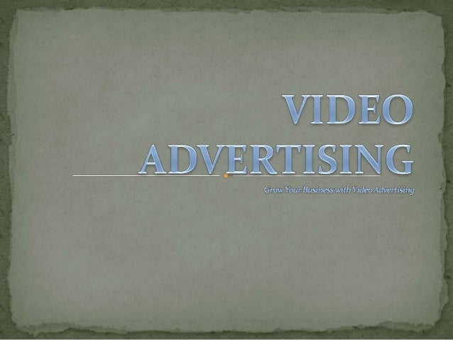 Video Adverting through Google AdWords