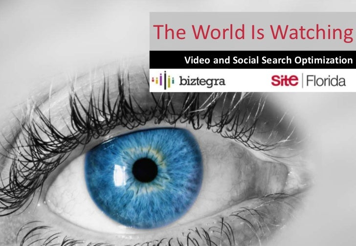The World Is Watching   Video and Social Search Optimization