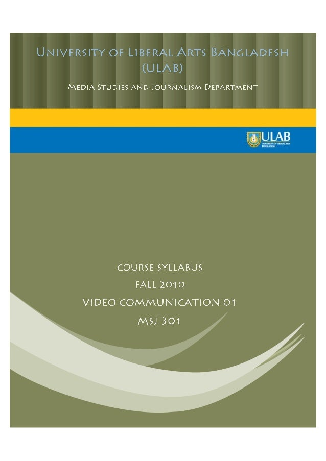Video communications 01 MSJ 303 Course Curriculum.pdf