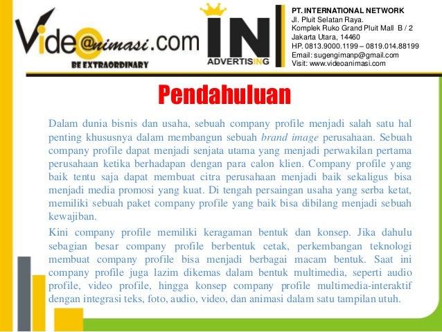 Video Company Profile PT. International Network