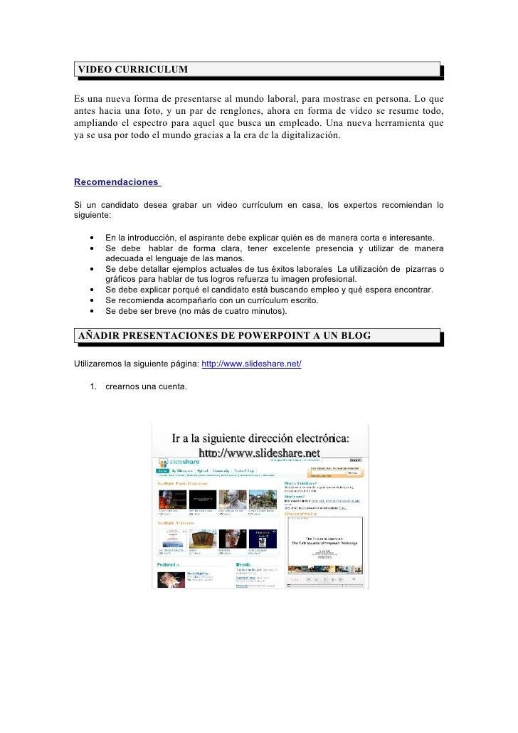 Video Curriculum Ppt A Blog Glosario