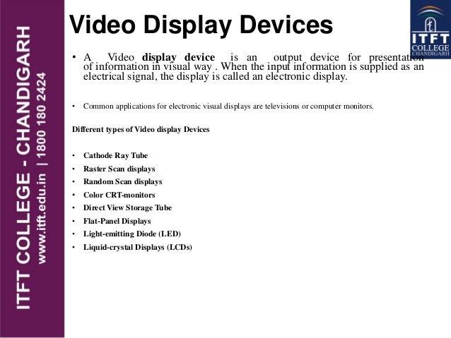 Video Display Devices Video Display Devices • a