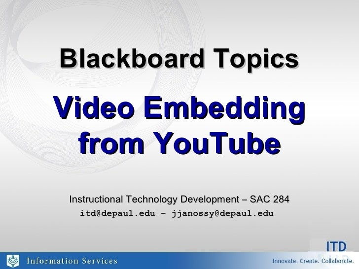 Video Embedding From You Tube