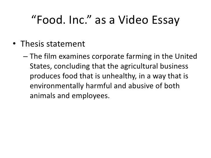 Write my food inc summary essay