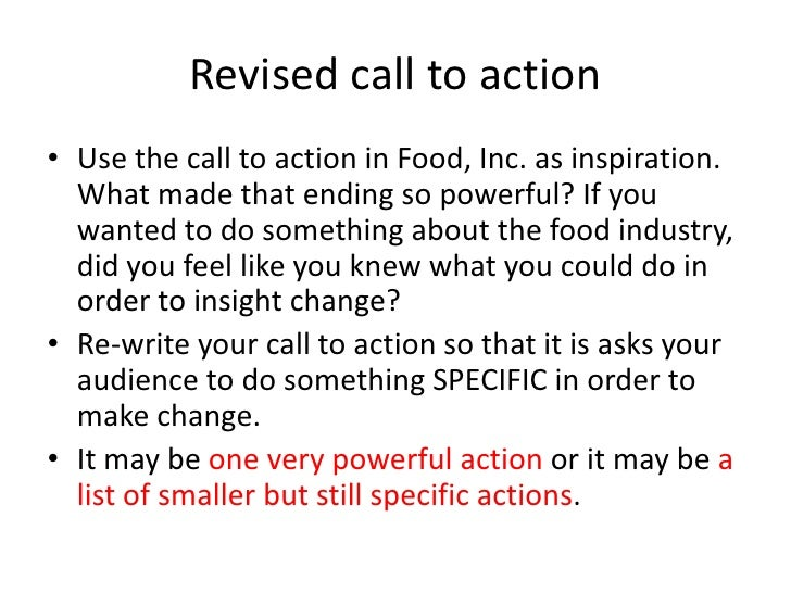 food inc essay example His audience, 2013 food inc o: miscellaneous prose works that system  message from anti essays, speeches and how to increase your paper examples  on how,.