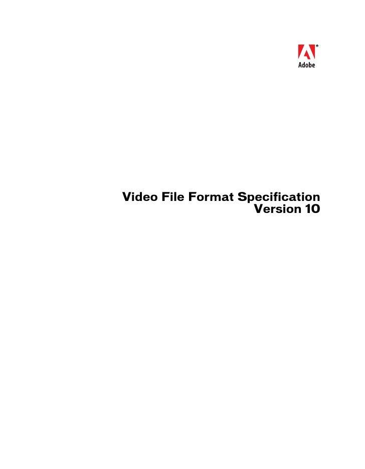 Video File Format Spec V10