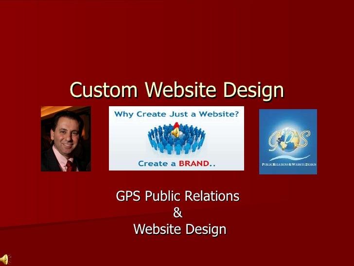 Custom Website Design GPS Public Relations  &  Website Design