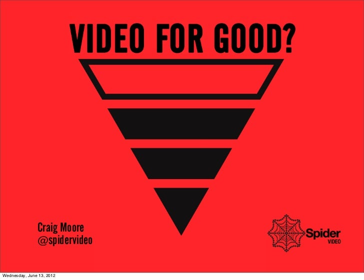 Video for good?  Good For Video AIM 2012