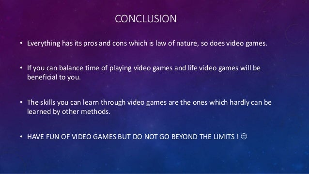 What are the pros and cons about video games?