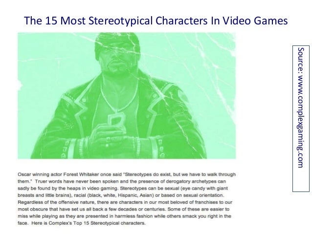 Video Games: Most Common Stereotypes