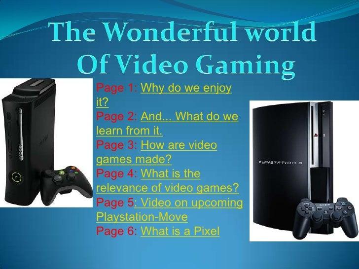 Video Gaming Presentation (Benjamin L & Thomas S)