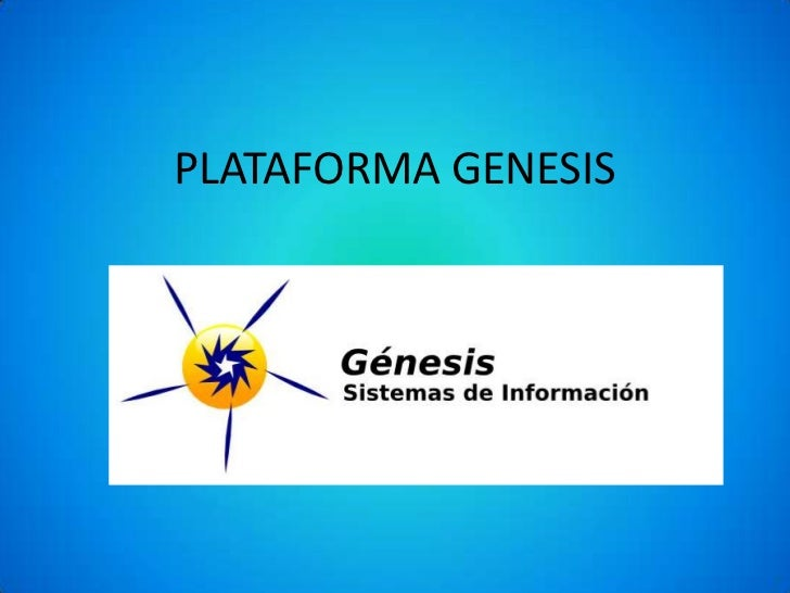 PLATAFORMA GENESIS