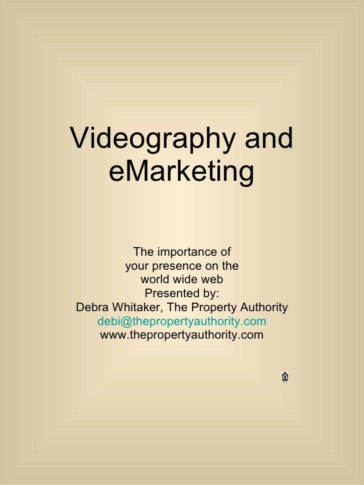 Videography And E Marketing P Pt Presentation