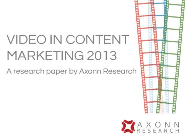 Video in content marketing slideshare