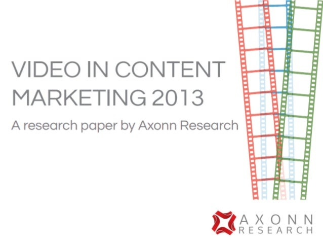 Video in content marketing slideshare