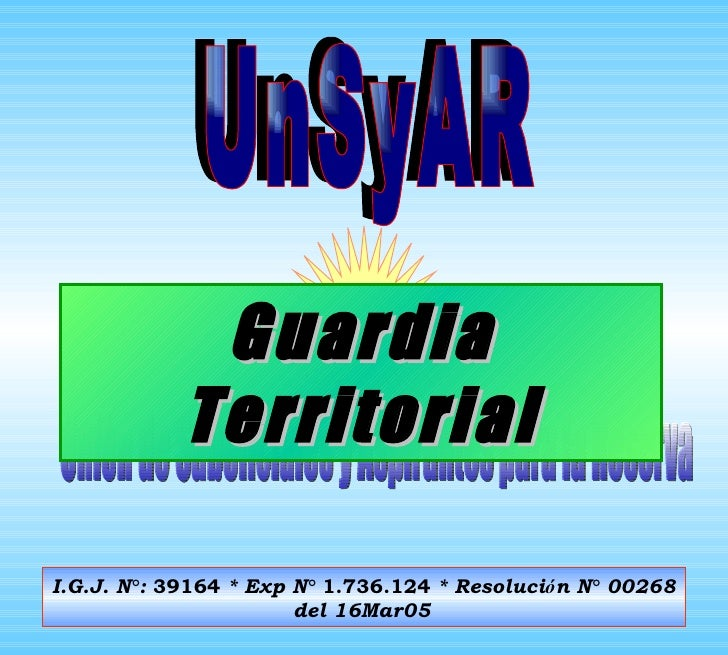 Unión de Suboficiales y Aspirantes para la Reserva I.G.J. N ° :  39164  * Exp N °   1.736.124  * Resoluci ó n N °  00268 d...