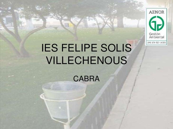 IES FELIPE SOLIS VILLECHENOUS<br />CABRA<br />
