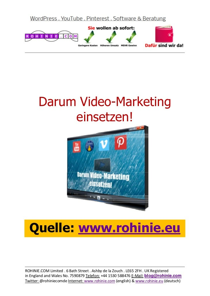 Darum Video-Marketing ...