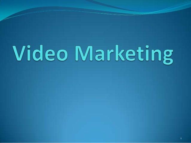 Video marketing and Optimisation