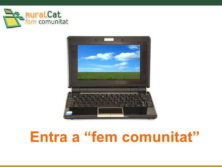 Presentació de la nova intranet de RuralCat