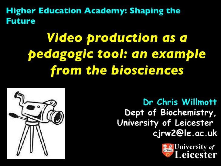 Video production pedagogy