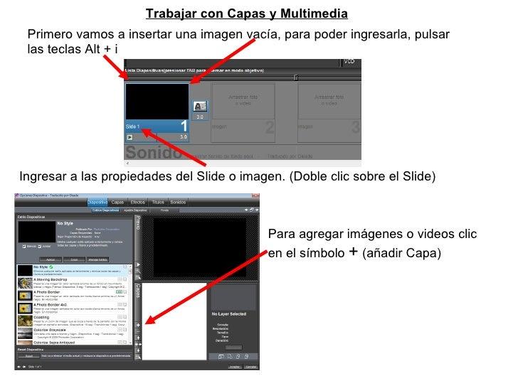 Trabajar con Capas y Multimedia Primero vamos a insertar una imagen vacía, para poder ingresarla, pulsar las teclas Alt + ...