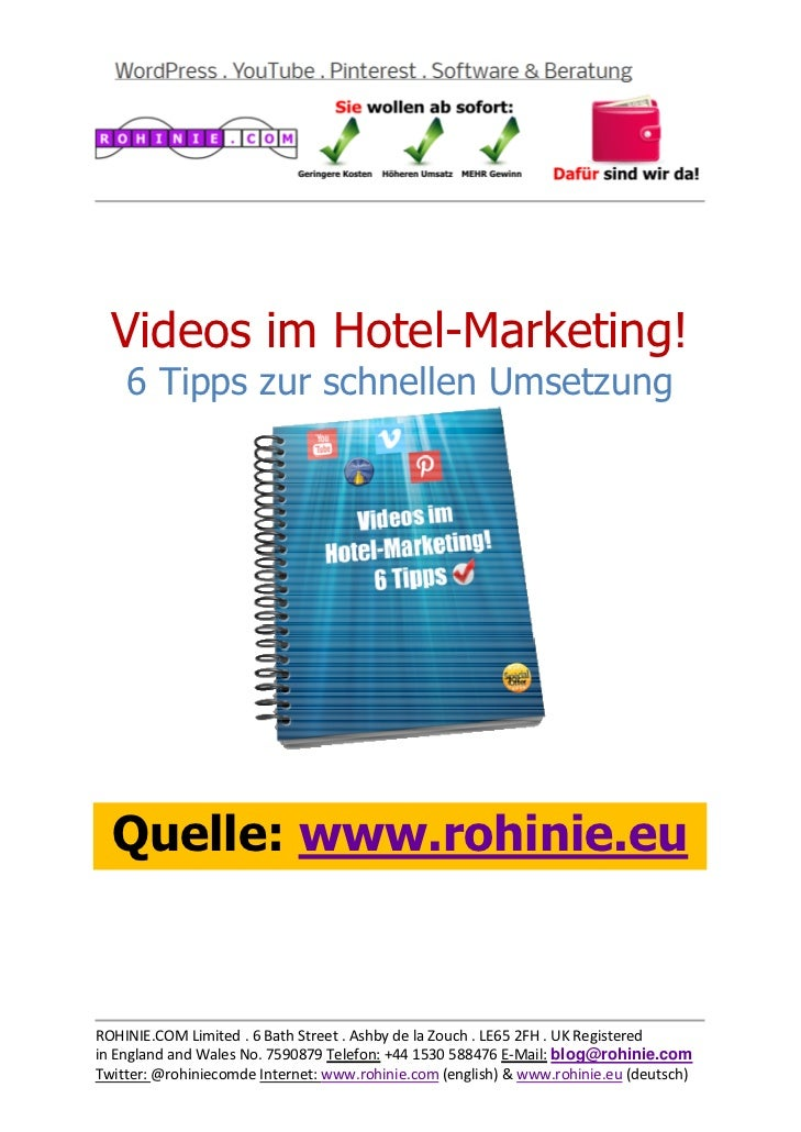 Videos im Hotel-Marketing...