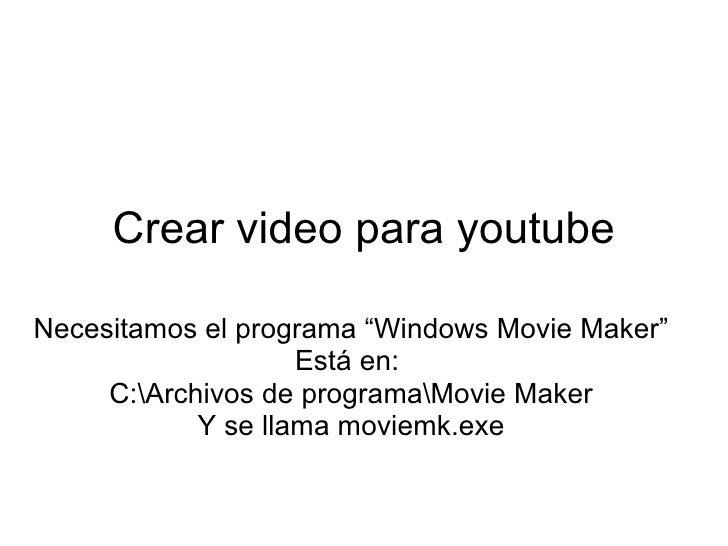 Videos A You Tube