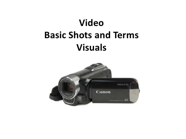 VideoBasic Shots and Terms        Visuals