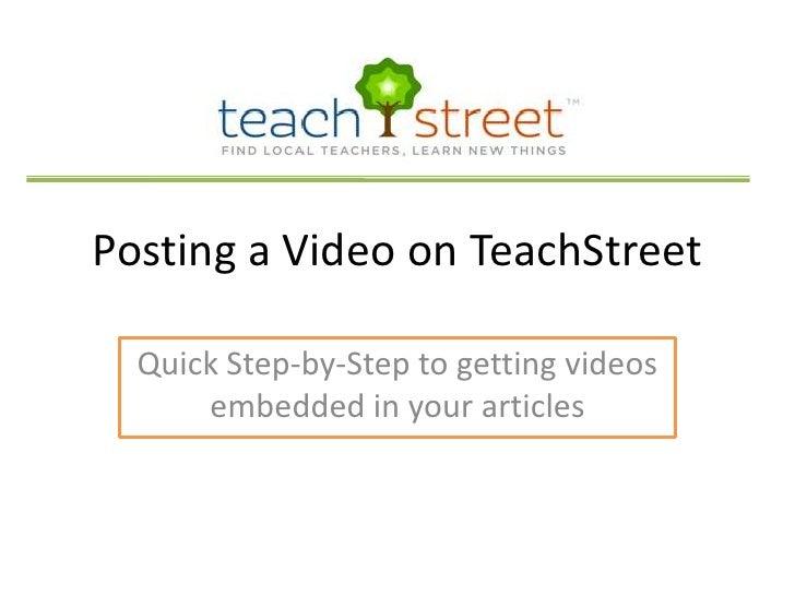Video Upload Slide Share