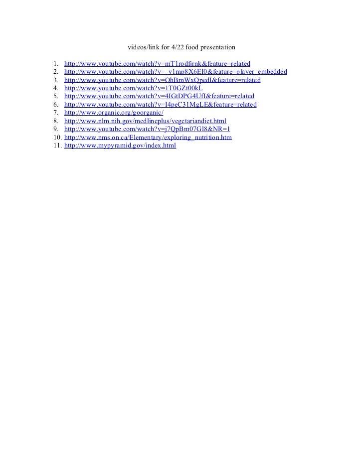Videos links