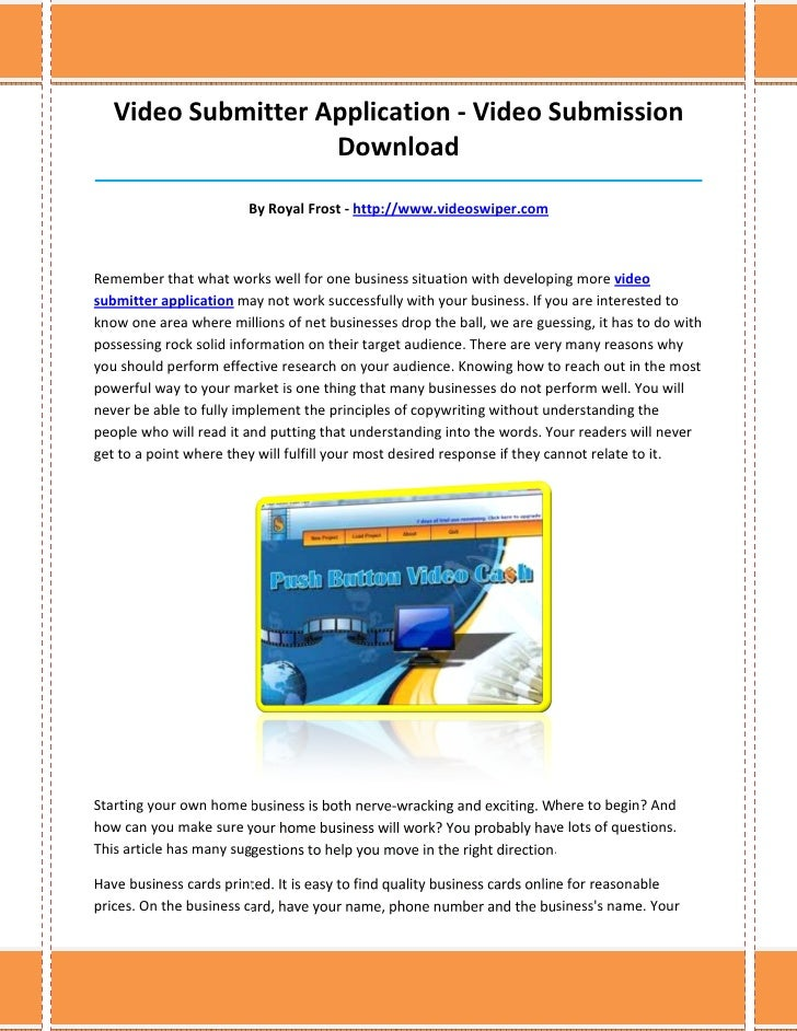 Video Submitter Application - Video Submission                    Download________________________________________________...