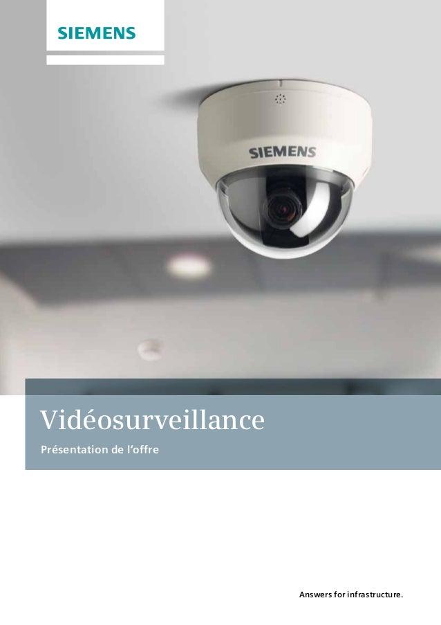 Vidéosurveillance Présentation de l'offre Answers for infrastructure.
