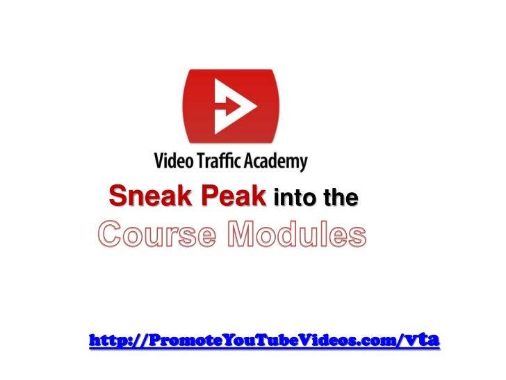 Sneak Peak into thehttp://PromoteYouTubeVideos.com/vta