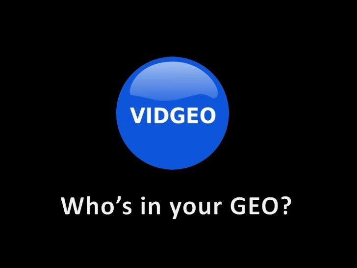 Vidgeo: Geo-Social Video Chat App Demo