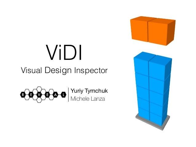 ViDI  Visual Design Inspector  R E V E A L Yuriy Tymchuk  Michele Lanza