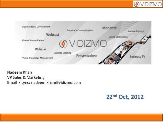Vidizmo presentation brief