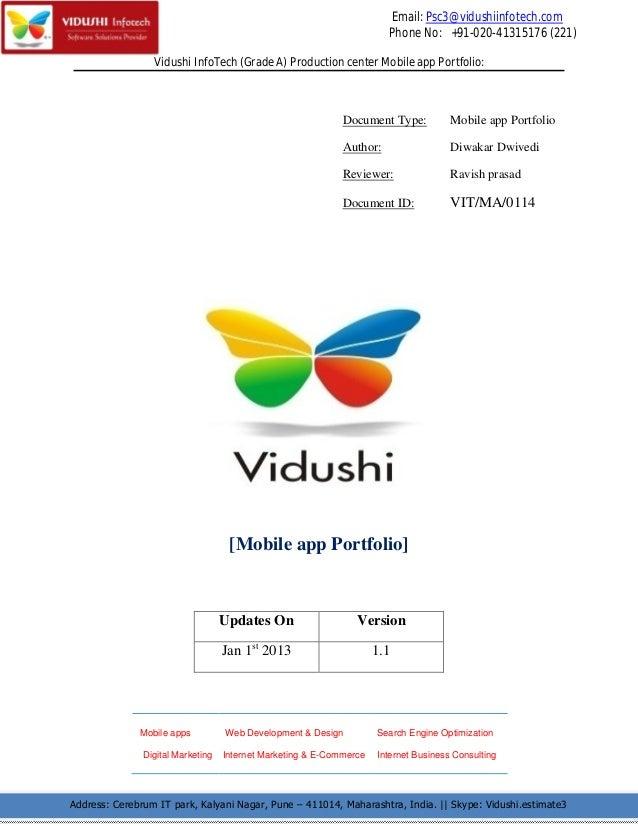 Email: Psc3@vidushiinfotech.com                                                                       Phone No: +91-020-41...