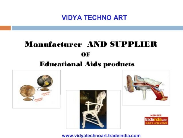 VIDYA TECHNO ARTManufacturer AND SUPPLIER               OF  Educational Aids products       www.vidyatechnoart.tradeindia....