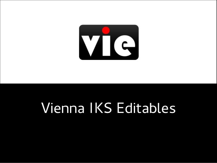 VIE - Using RDFa to make content editable
