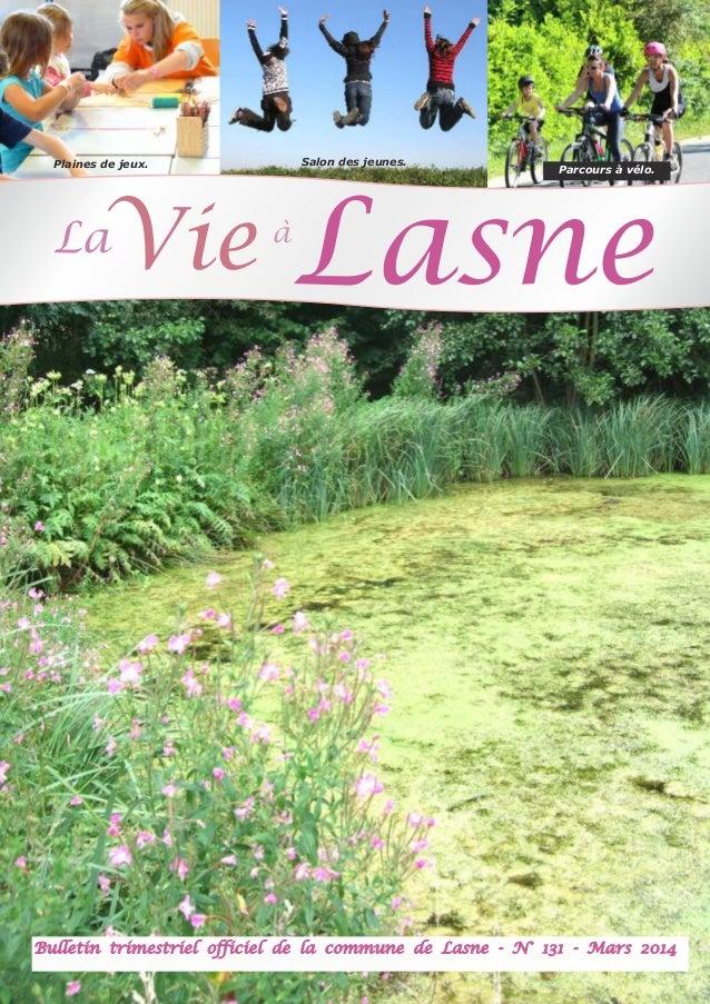 Salon des jeunes.  Plaines de jeux.  Vie  La  à  Parcours à vélo.  Lasne  Bulletin trimestriel officiel de la commune de L...