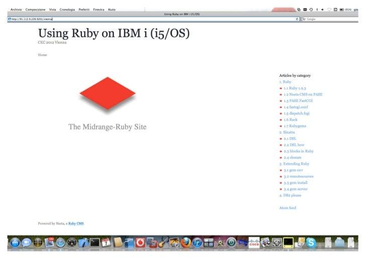 Using Ruby on IBM i (i5/OS)